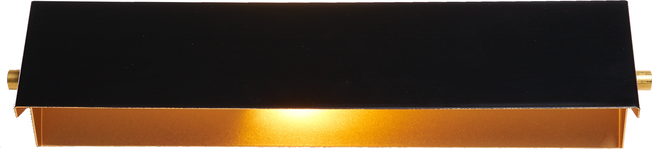 Applique rectangle 35cm noir/or
